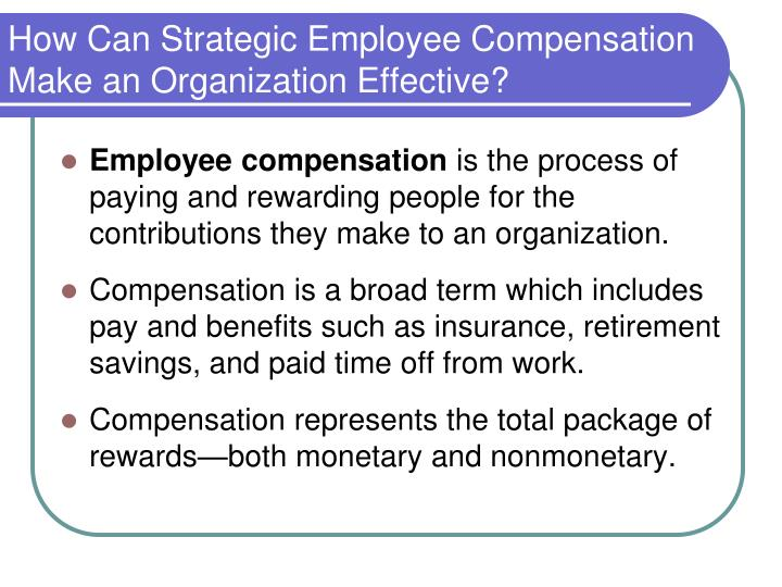 rewarding employees through compensation and the Total compensation is the primary component in a total rewards model   statistics show that by attracting and retaining employees through higher wages, .