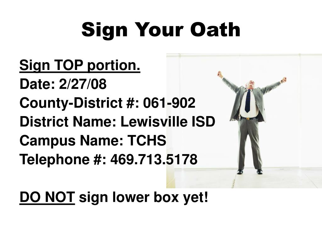 Sign Your Oath