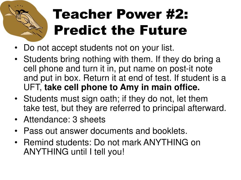Teacher Power #2: