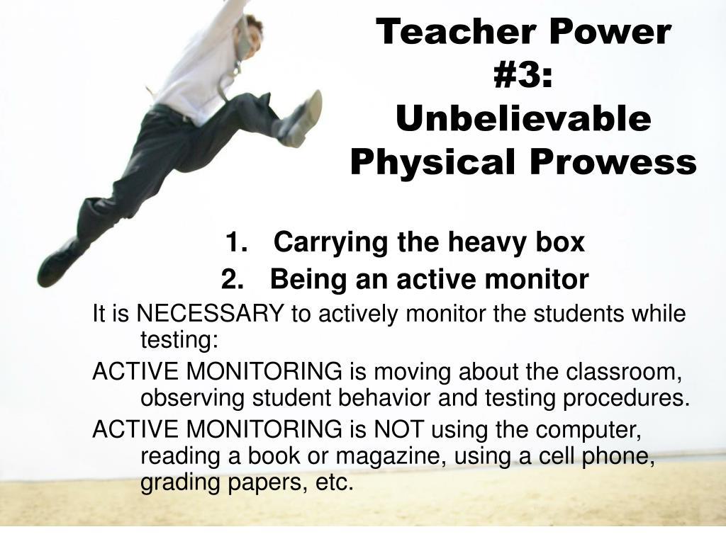 Teacher Power #3: