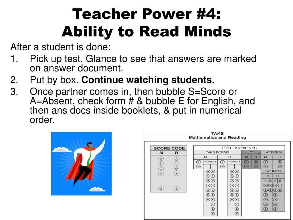 Teacher Power #4: