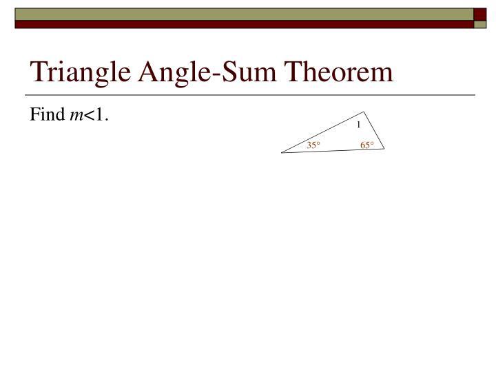 Triangle Angle-Sum Theorem