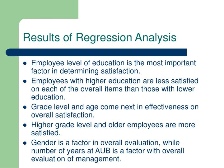 Results of Regression Analysis