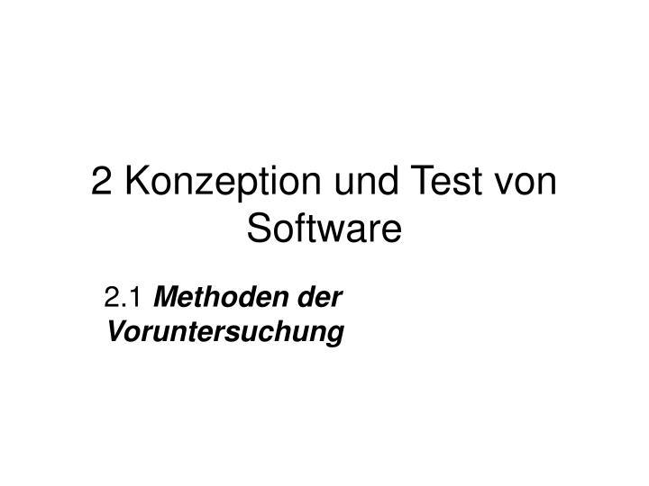 2 Konzeption und Test von Software