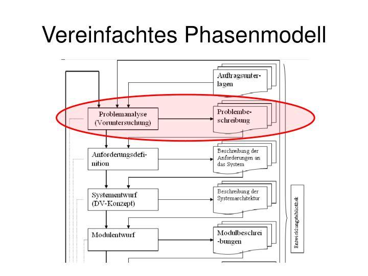 Vereinfachtes Phasenmodell