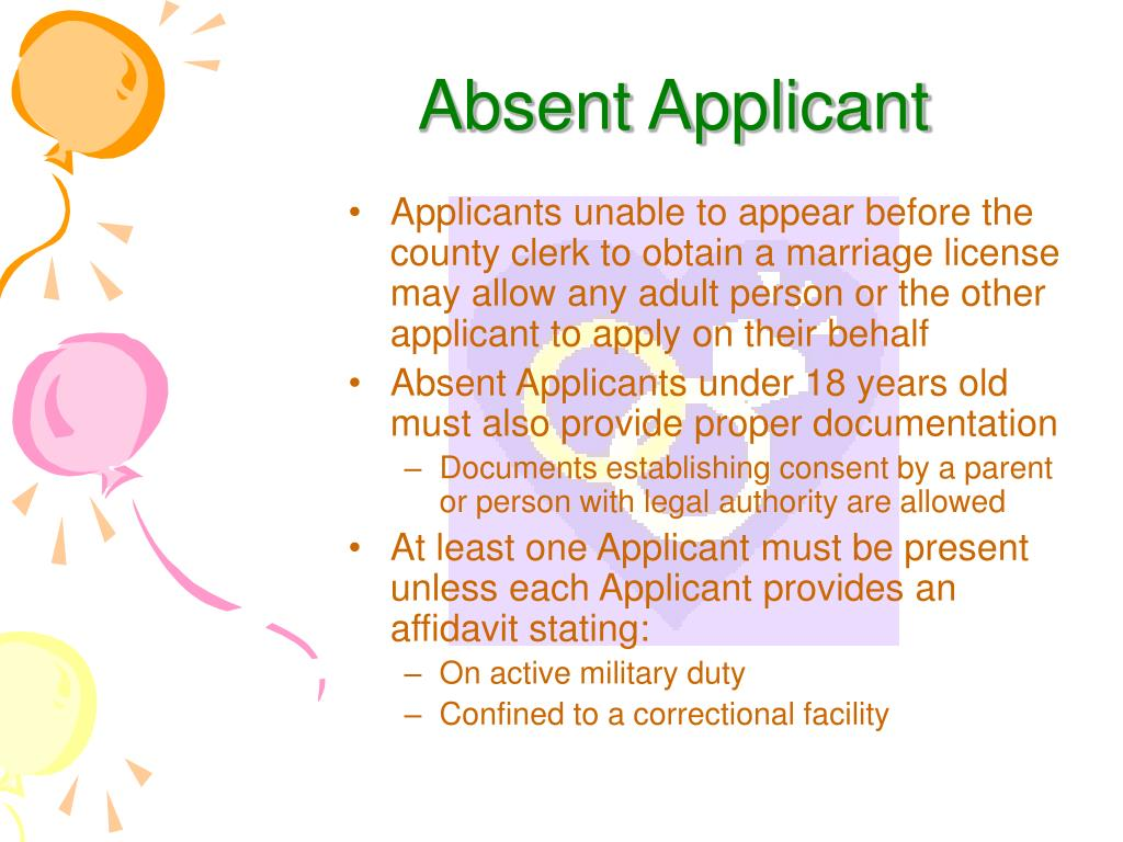 Absent Applicant