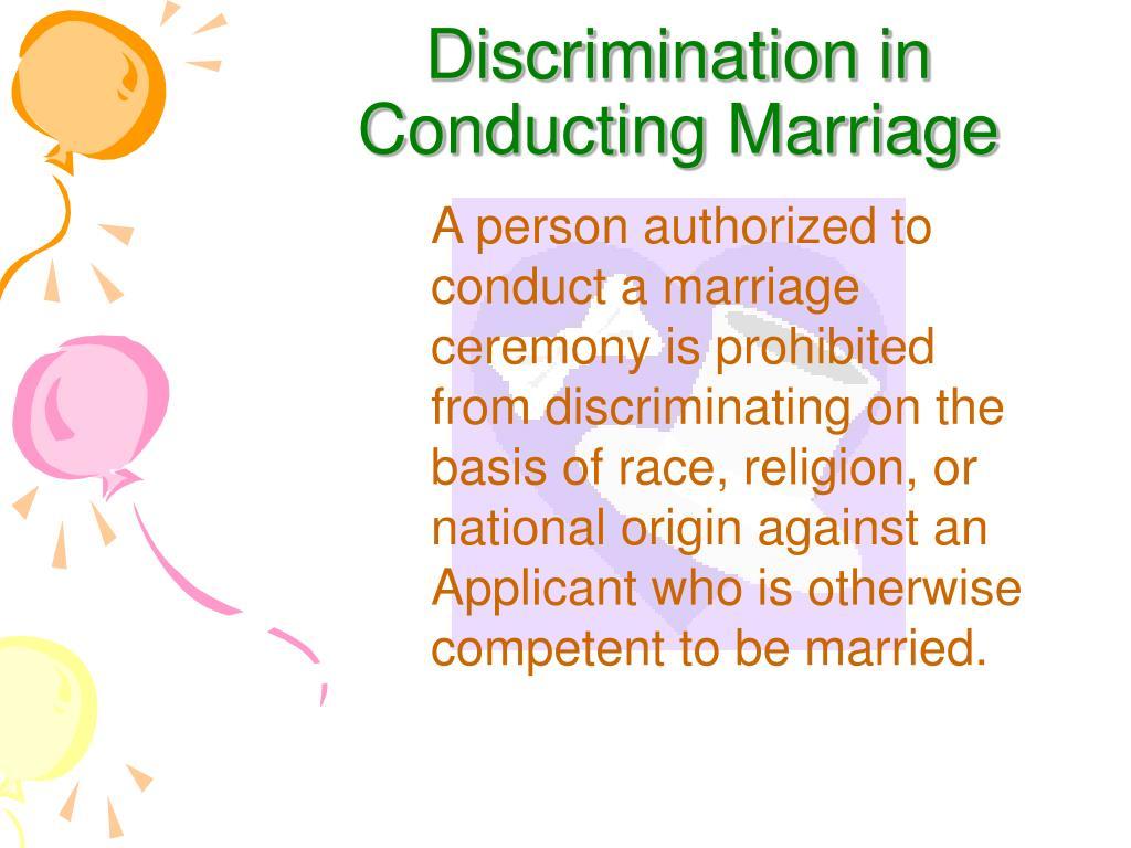 Discrimination in