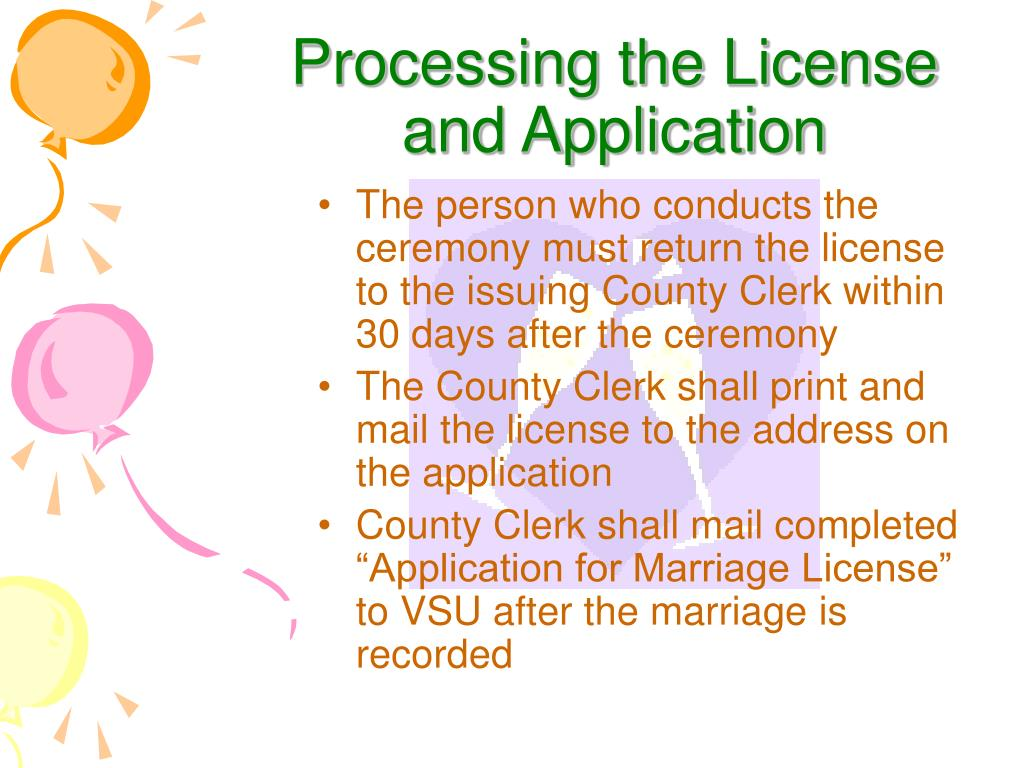 Processing the License