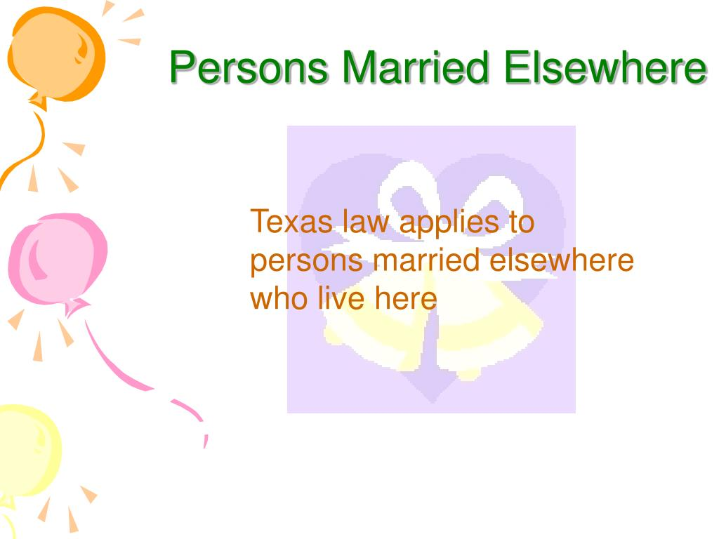 Persons Married Elsewhere