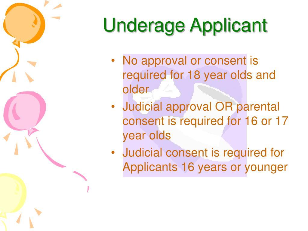 Underage Applicant