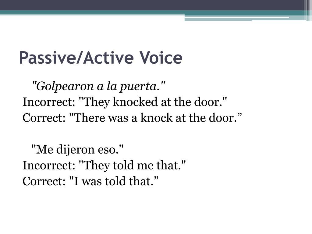 Passive/Active Voice