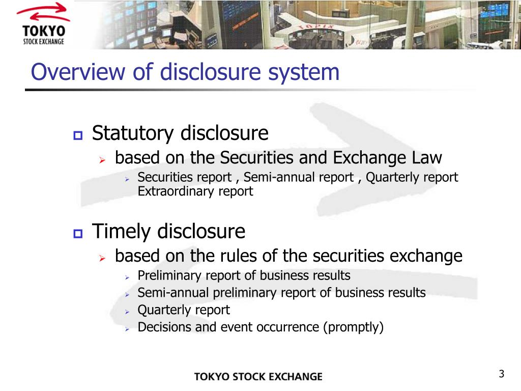 Overview of disclosure system