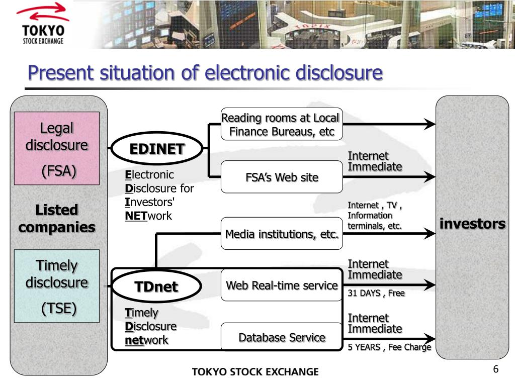 Present situation of electronic disclosure