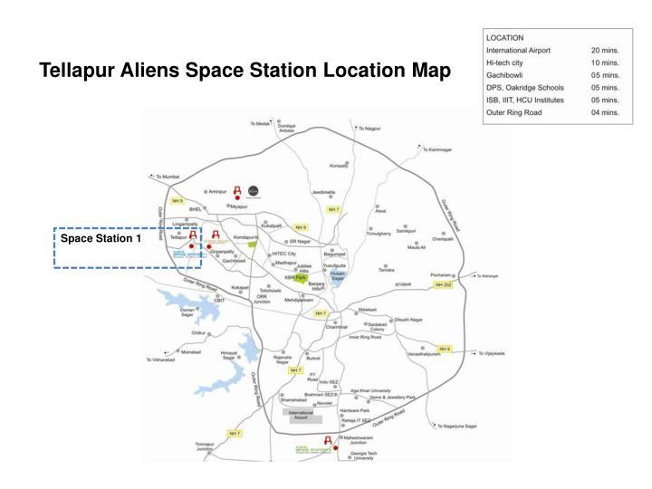 Tellapur Aliens Space Station Location Map