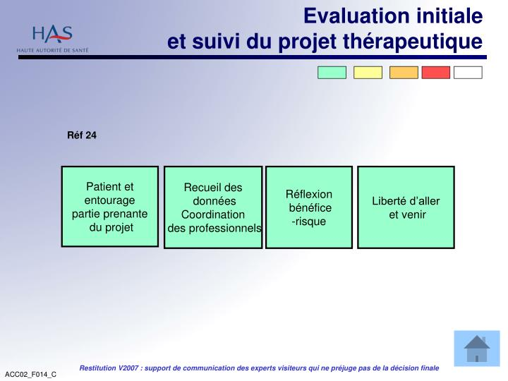 Evaluation initiale