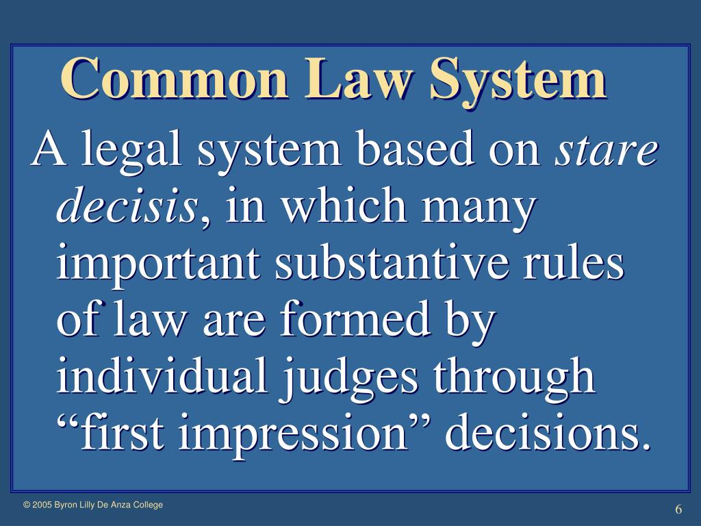 Common Law System