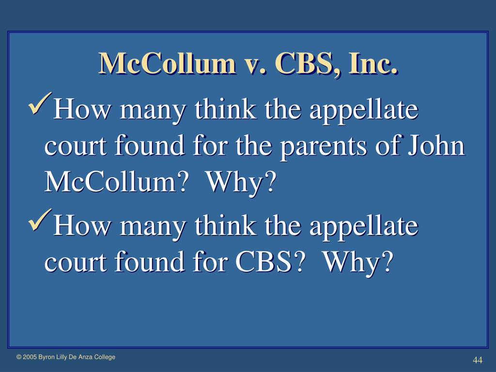 McCollum v. CBS, Inc.