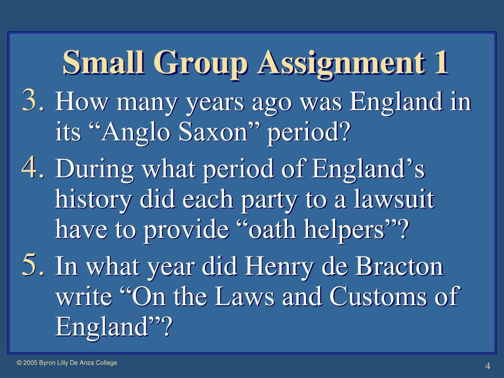 Small Group Assignment 1