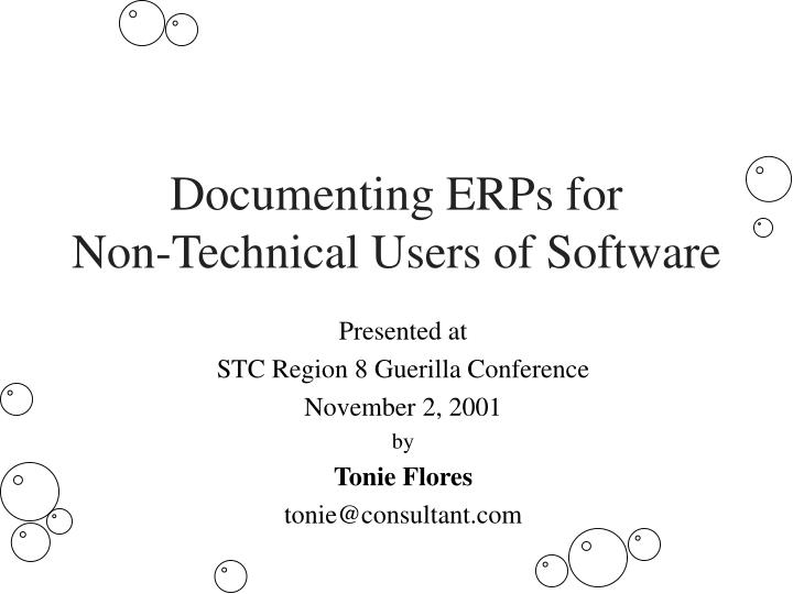 documenting erps for non technical users of software