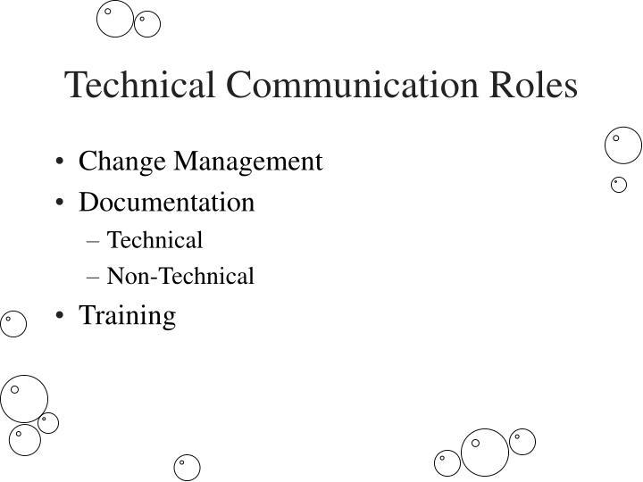 Technical Communication Roles