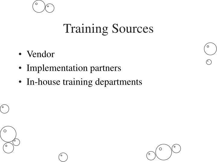 Training Sources