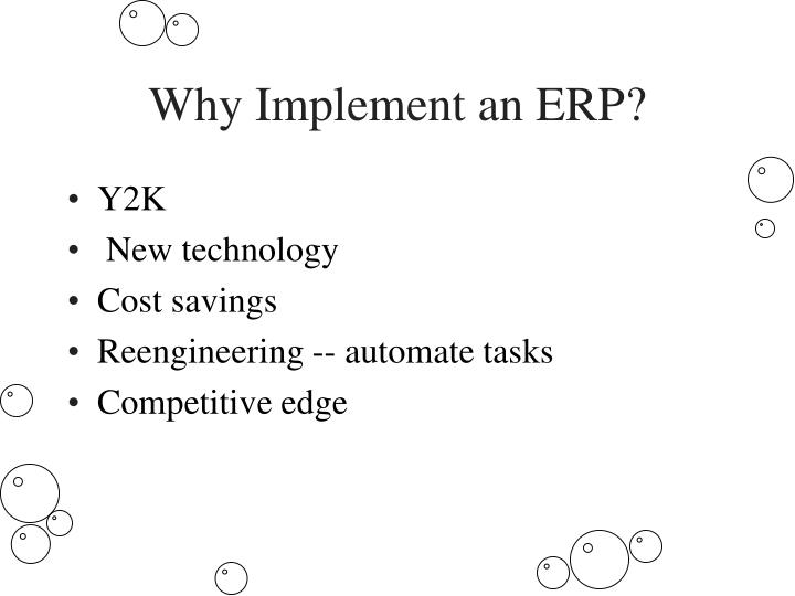 Why Implement an ERP?