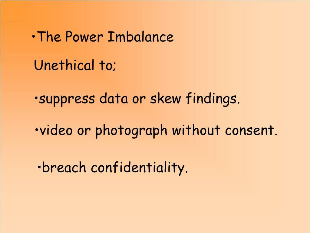 The Power Imbalance