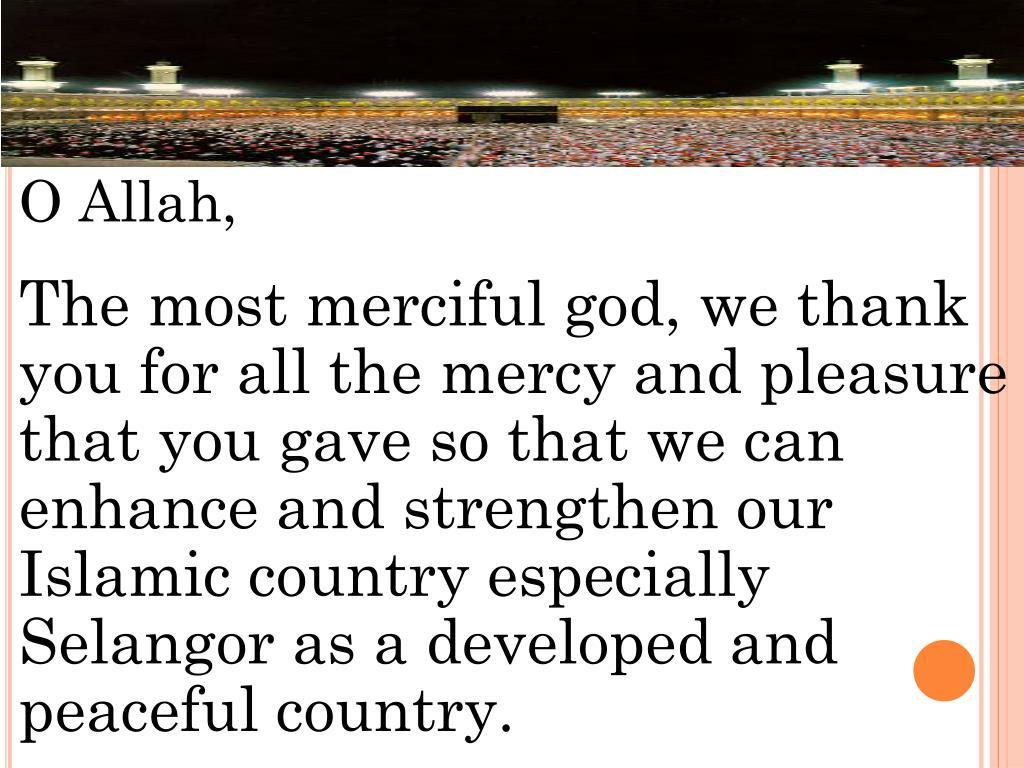 O Allah,
