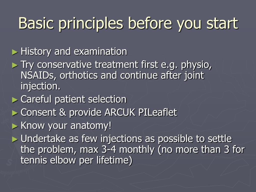 Basic principles before you start