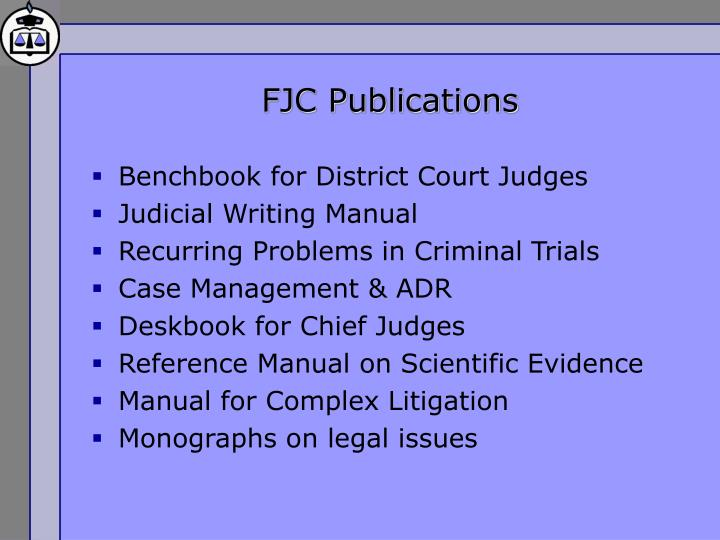FJC Publications