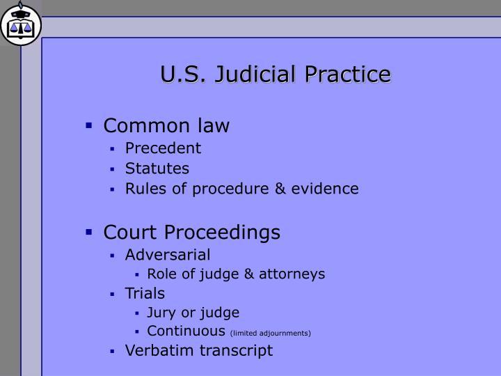 U.S. Judicial Practice