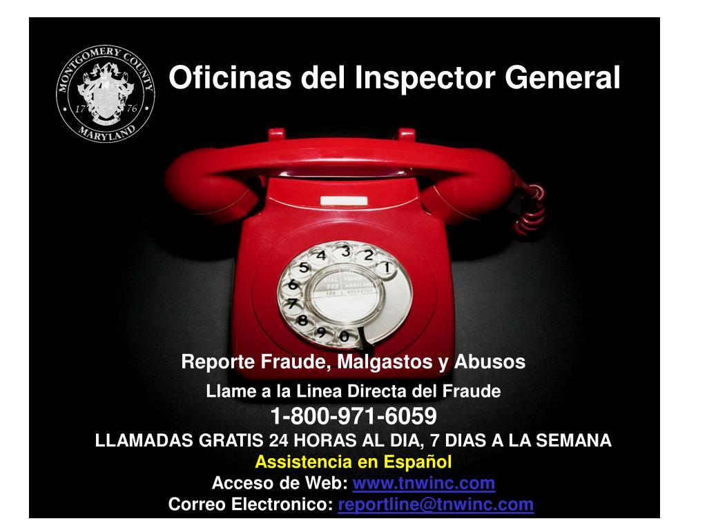 Oficinas del Inspector General