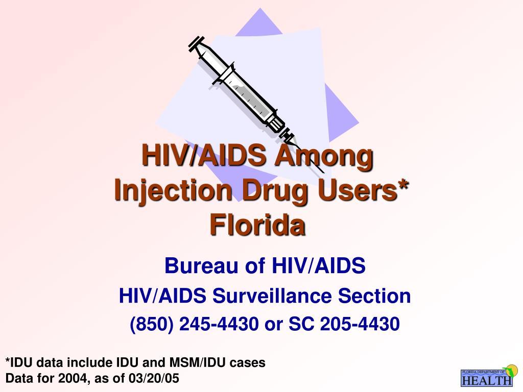 hiv aids among injection drug users florida