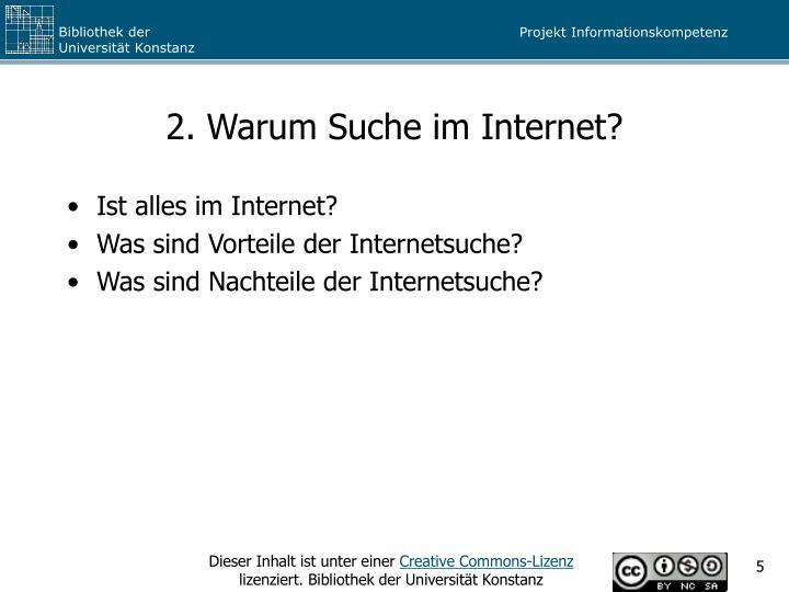 2. Warum Suche im Internet?