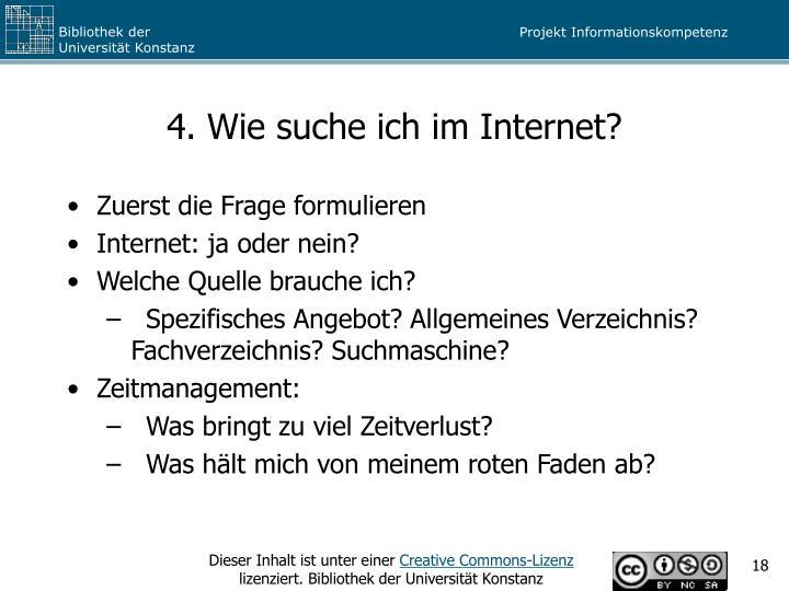 4. Wie suche ich im Internet?