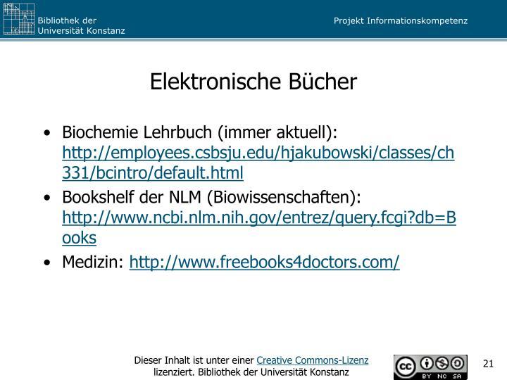 Elektronische Bücher
