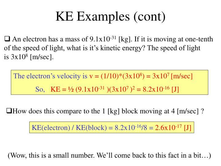 KE Examples (cont)
