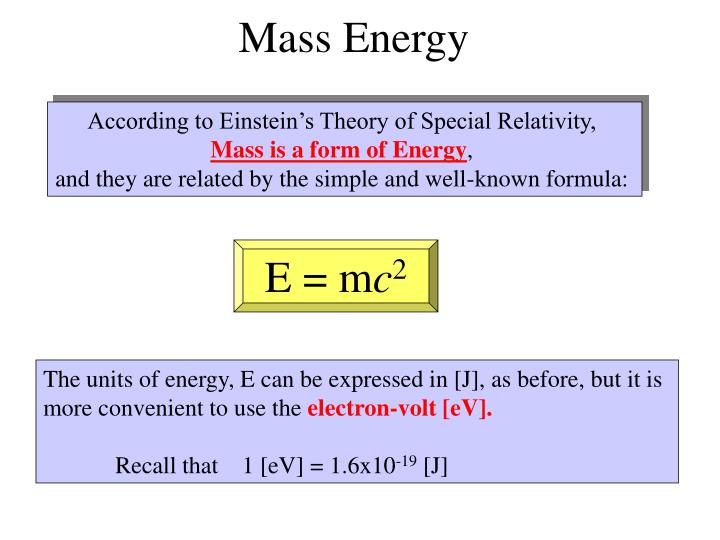 Mass Energy