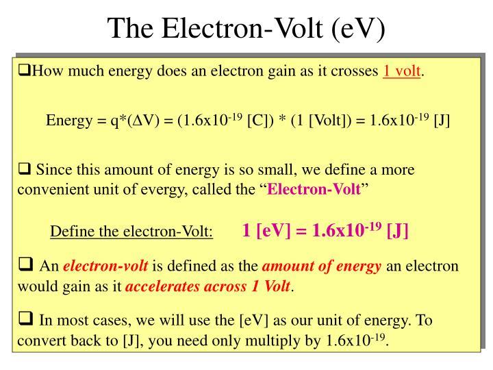 The Electron-Volt (eV)