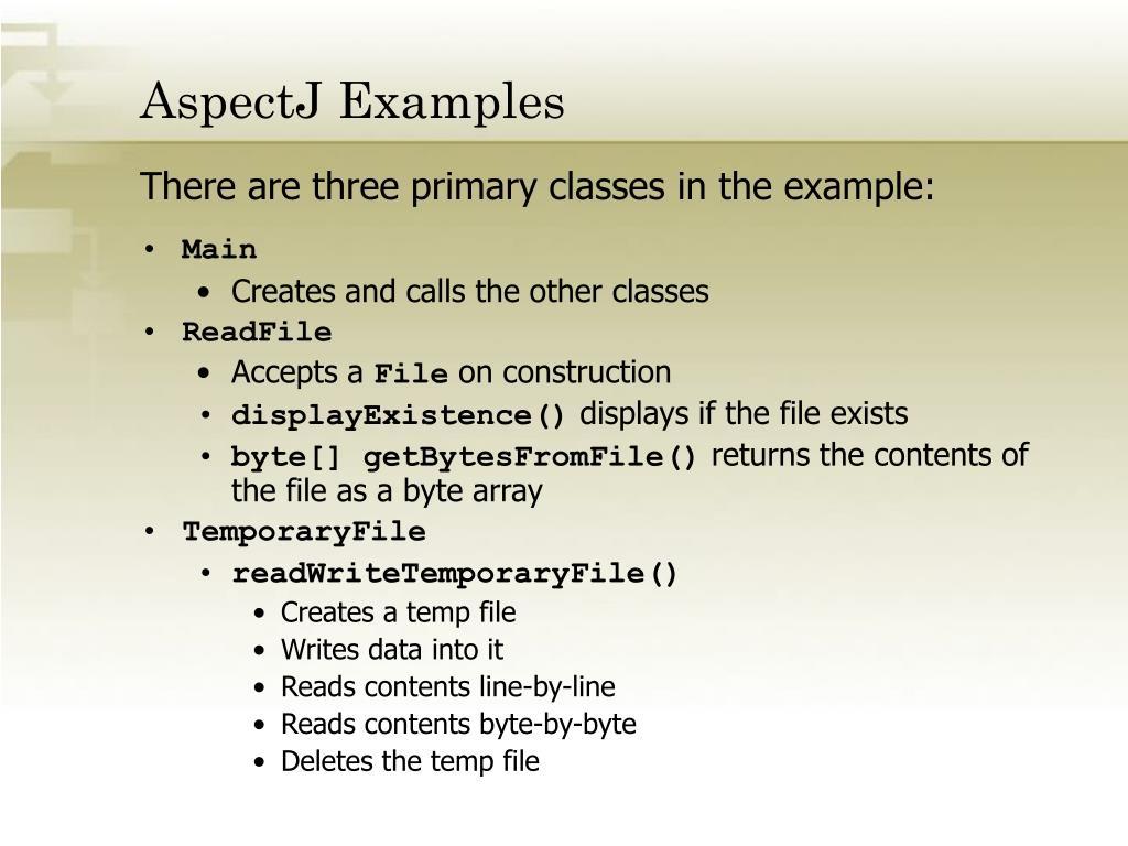 AspectJ Examples