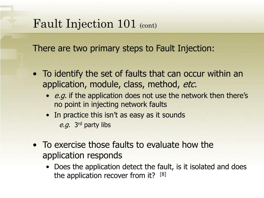 Fault Injection 101