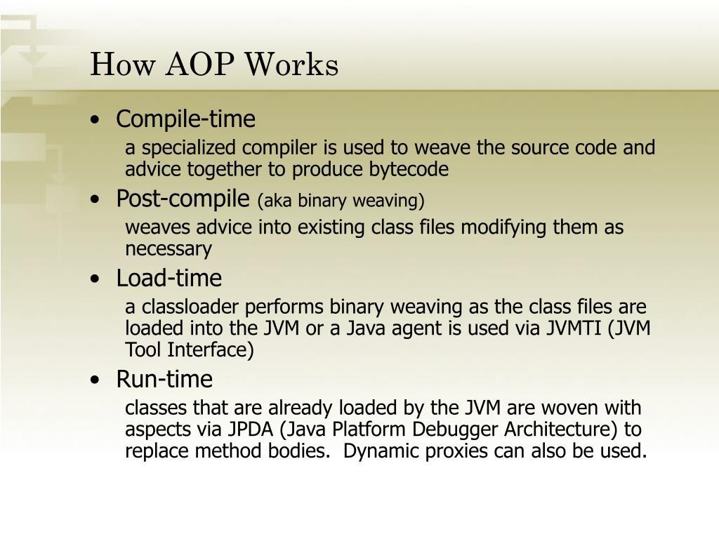 How AOP Works