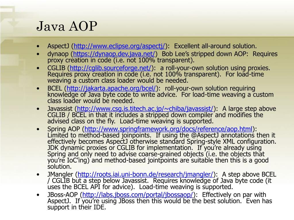 Java AOP