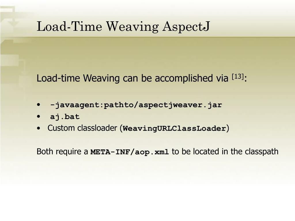Load-Time Weaving AspectJ