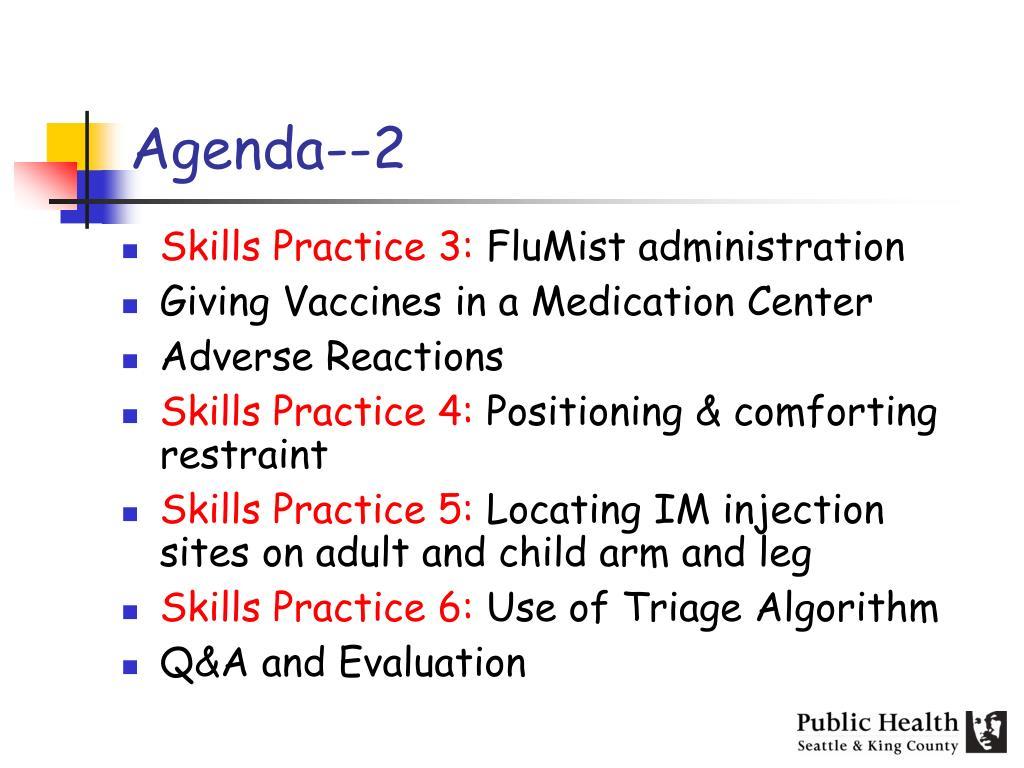Agenda--2