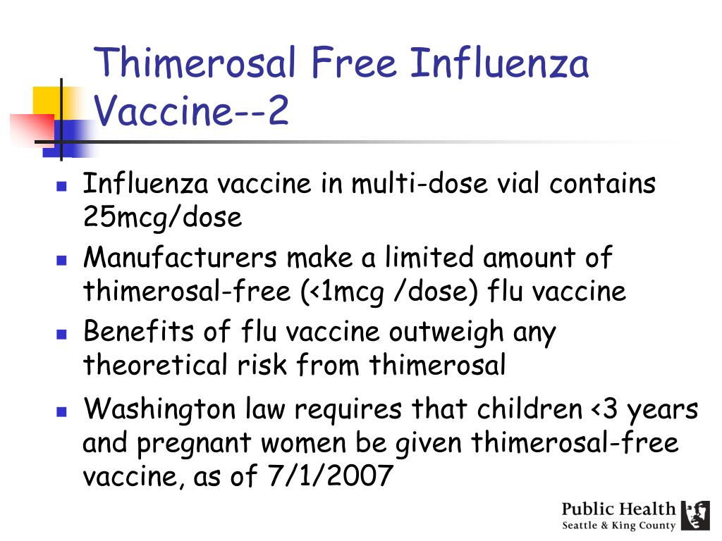 Thimerosal Free Influenza Vaccine--2