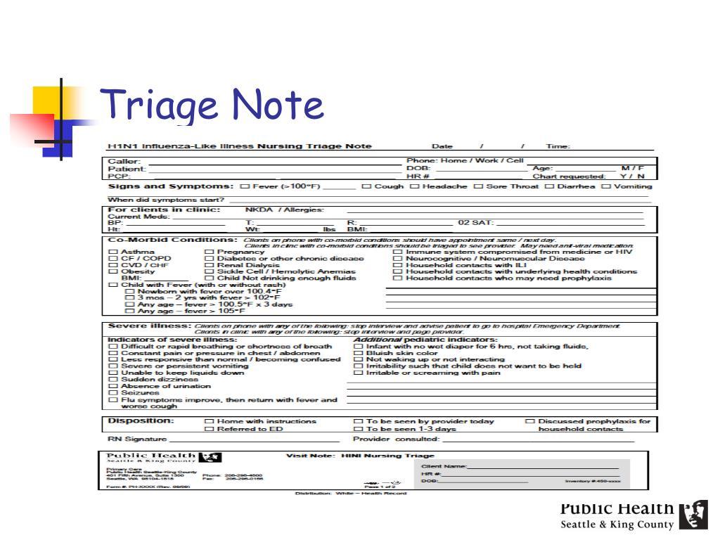 Triage Note