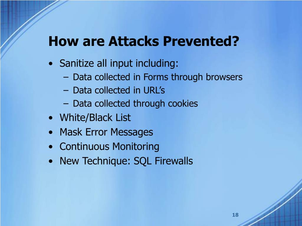 How are Attacks Prevented?