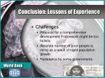conclusion lessons of experience