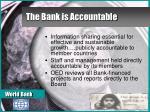 the bank is accountable